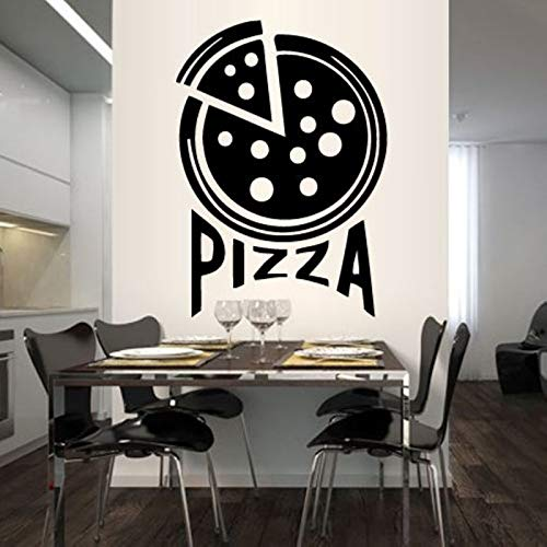 zaosan Wandaufkleber Pizza Aufkleber Essen Aufkleber Poster Vinyl Kunst Wandtattoos Wandaufkleber Dekor Wandbild Pizza Aufkleber 104x74cm