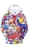 Nonaxi Cosplay Undertale Sans Kids Boys Girls Printed Hoodies Sweater Costume -Unisex (2XL,color2)