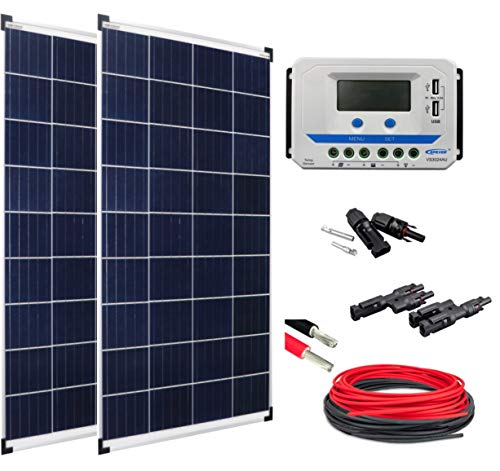 Enjoysolar® zonne-energie set basic set 2 * poly100 Watt VS3024AU ideaal voor e-bike opladen