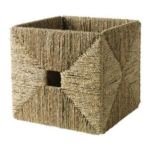 IKEA KNIPSA Box handgeflochtener Korb aus Seegras (32x33x32cm); passend für EXPEDIT Regal