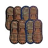 Milkvetch 8 Pares de Calcetines de TrampolíN Calcetines de Agarre Calcetines Antideslizantes de Goma de Silicona para Interiores Calcetines de AlgodóN Calcetines Deportivos de Entrenamiento