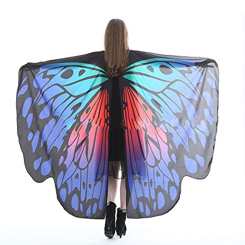 Xinxin24 Vrouwen vlinders sjaal sjaal Le Signore Nymph Pixie poncho kostuum accessoires