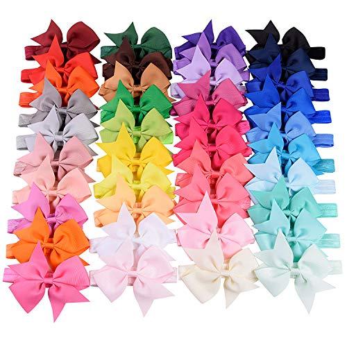 Choicbaby Haarbänder für Babys, Mädchen, 10 cm, Ripsband, Zubehör für Kleinkinder, 40 Stück