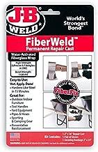 FiberWeld Permanent Repair Cast 2x36 Inch - High Strength Adhesive Fiberglass Wrap - Black, 38236
