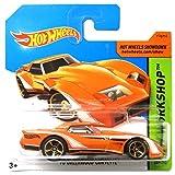 Hot Wheels Chevrolet Greenwood Corvette 1976 - Carrete de pesca (escala 1:64), color naranja