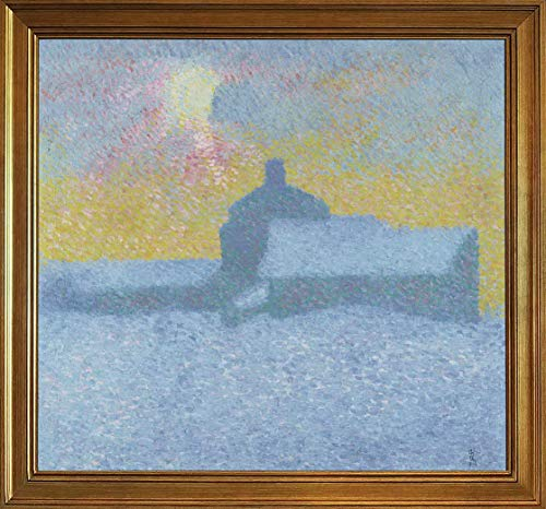 Berkin Arts Alberto Giacometti Classic Framed Giclee Print On Canvas-Famous Paintings Fine Art Poster-Reproduction Wall Decor(Winter in Maloja) #JK