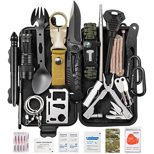 Lchahsprn Survival Gear Kit 37 in 1, Emergency EDC Survival Tools SOS Earthquake Aid Equipment, Cool...