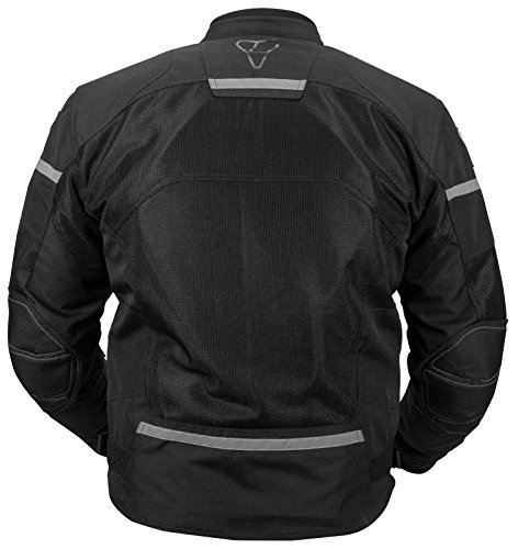 Pilot Motosport Men's Direct Air Mesh Motorcycle Jacket (V3) (Hi-Vis, X-Large)