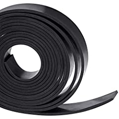 HIGH QUALITY MATERIAL:This neoprene rubber strips roll is NOT sponge or foam,it is Solid Rubber.The rubber seal strips is black in color and smooth on both sides. STRONG DURABLE:Neoprene one of the first oil resistant synthetic rubbers,The Rubber Sea...