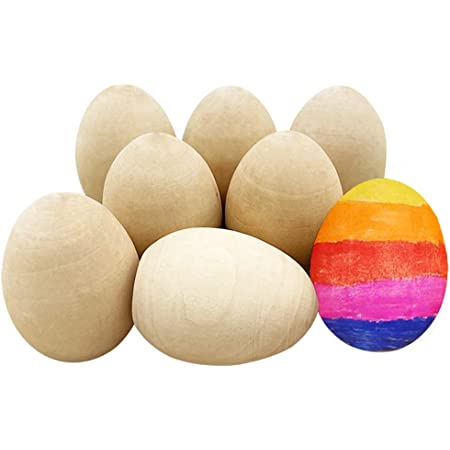 5 x Plain Natural Wooden Eggs size 58 x 34 Craft DECOUPAGE EASTER EGGS