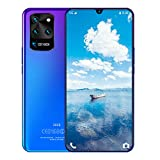 Teléfono Móvil Libres, S20U Android 9.1 Smartphone Libres 7,5 Pulgadas 8GB RAM 256GB ROM Octa-Core, 8MP+16MP Cámara Face ID Huella Digital 6800mAh,Azul