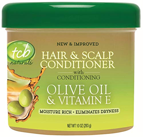 Tcb Naturals Conditioner H & S Olive Oil & Vit-E Jar 10 Ounce (295ml) (3 Pack)