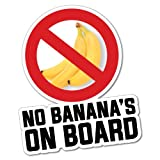 No Bananas On Board Sticker Decal Boat Fishing Tackle 4x4