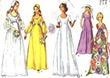 Simplicity 9260 Vintage Sewing Pattern Wedding Gown Bridesmaid Dress Cap Size 14 (Bust 36), Vintage 1971