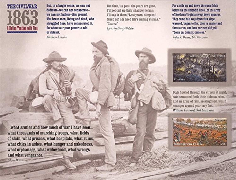 Civil War 1863 Sheet of 12 Forever Stamps Scott 47874788