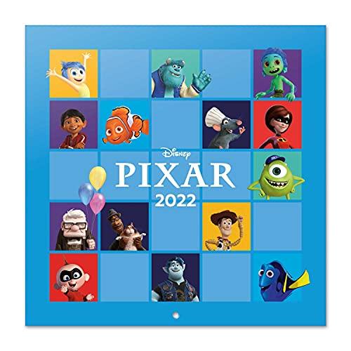 Calendario Disney Pixar 2022 - Calendario 2022 pared - Calendario 16 meses - Calendario 2021 2022│ Calendario de pared 2021 2022 - Calendario Pixar - Calendario mensual - Producto con licencia oficial