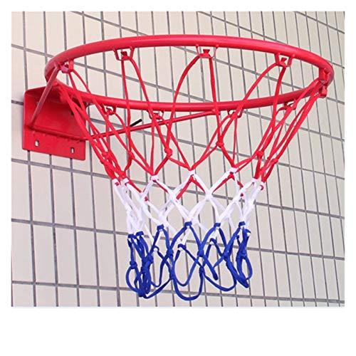 Chenhan Malla de Baloncesto Caja de Baloncesto Interior y al Aire Libre Deportes de Lujo Baloncesto Blanco Red Duradero y Duradero para la Cesta estándar Redes Gruesas (Color : Red)