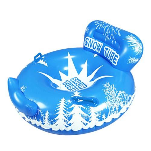 BESPORTBLE 130Cm Aufblasbare Schneeschläuche Hochleistungs-Großschneeschlitten mit Griffen für Erwachsene Kinder Winter Outdoor-Spaß