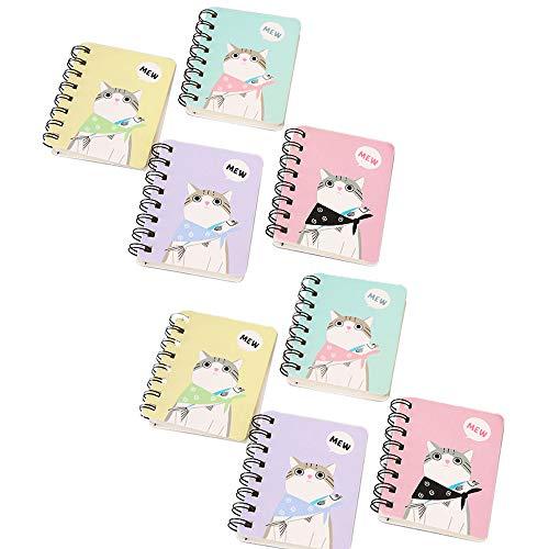 Cuaderno Pequeño para Niños,8 Piezas Mini Cuaderno,Cuaderno de Bolsillo,Bolsillo Portátil Mini Cuadernos,Libreta Pequeña,para Hacer una Lista,Planificar un Viaje(Estilo Aleatorio)