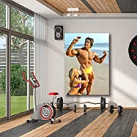 Arnold Schwarzenegger Poster Multiple size Gym Decor Arnold Schwarzenegger Fitness Picture print Home Bodybuilding Inspirational Wall Art Decor Canvas