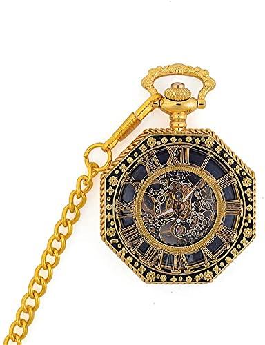 Relojes de bolsillo,Reloj de bolsillo Unisex bolsillo reloj mecánico antiguo bolsillo reloj esqueleto mecánico bolsillo reloj de reloj regalo de san valentín unisex mecánico simple retro reloj de bols