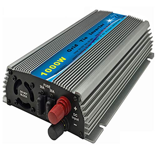 Hyzbpp 1000W Inversor de conexión a red MPPT apilable Onda sinusoidal pura DC20-45V Entrada solar AC90-140V Salida for panel de 24V 30V 36V PV