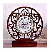 Reloj de Escritorio Analógico Reloj de mesa / mesa de edad Inicio Reloj / Movimiento silencioso, elegante y generoso, Sala, Rojizo / 13,8 pulgadas, Reloj de la chimenea Reloj de Escritorio Silencioso