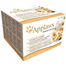 Applaws Wet Cat Food, Multipack Chicken Selection, in Broth Tin, 12 x 70g