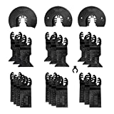 WORKPRO 23-Piece Metal/Wood Oscillating Saw Blades Set for Quick Release Multitool, Blades for...