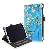 ProElite HandStrap Smart case Cover for Samsung Galaxy Tab A 10.1' SM-T510/SM-T515 [Flowers]