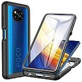 CENHUFO Xiaomi POCO X3 NFC Hülle, Xiaomi POCO X3 Pro Hülle, Stoßfest Schutzhülle 360 Grad R&umschutz Cover mit Eingebautem Bildschirmschutz Bumper Hülle Handyhülle für Xiaomi POCO X3 NFC/X3 Pro -Schwarz