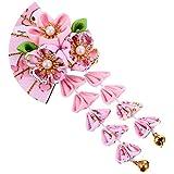 FRCOLOR Accesorios para El Cabello de Estilo Japonés Flor de Kimono Pinza para El Cabello Borla Campana Forma de Abanico Tocado Accesorios para El Cabello Cos Accesorios para Fotos Aptos