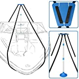 iCOVER Boat Cover Support Pole System-Height Adjustable Aluminum Telescoping Pole and Webbing Strap Prevent Water from Sagging