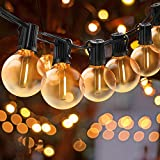 BRTLX LEDストリングライト 防雨型IP45 15M (25+2)個電球付き LEDイルミネーションライト 2700k 電球色相当 E12口金 25個ソケット クリスマスライト イルミネーション 装飾ライト 誕生日パーティー電飾 結婚式飾り