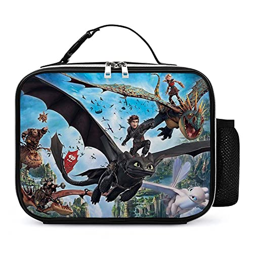 How to Train Your Dra-gon Leakproof Insulated Lunch Bag Adjustable Strap Lunch Box Waterproof Tote Bag Container for Girl Boy