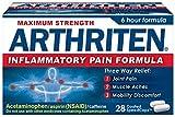 Arthriten Inflammatory Pain Formula Caplets, 28 Count (Pack of 4)