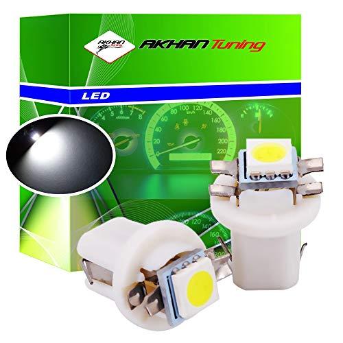 Akhan 85W - LED Ampoule Lampe voiture auto Blanc T5 B8.5D BAX10D 12V tachymètre instrument d'éclairage