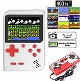 ZQTRT Handheld Spielkonsole,Retro-Mini-G-AME-Maschine mit 400 klassischen FC-G-Ames und...