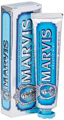 MARVIS® Aquatic Mint 85 ml I Zahncreme mit dem kühlen Hauch von Minze I entfernt Plaque und hartnäckige Beläge I mit Fluorid