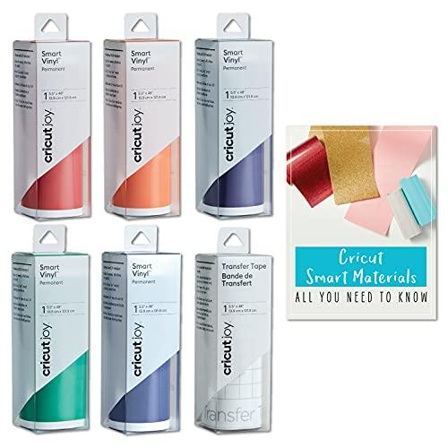 Cricut Joy Smart - Set di vinile permanente, arcobaleno