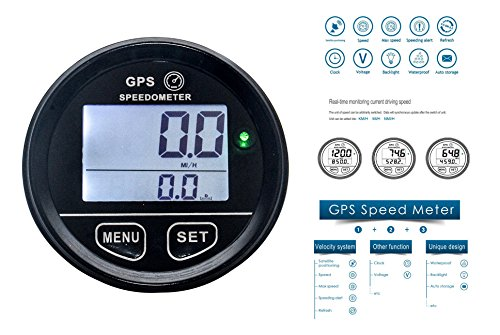 OZ-USA GPS Speedometer 60mm Gauge Odometer Battery Meter Digital Dash 12v 24v mph kmh car Truck Boat Marine Motorcycle cart ATV Glider