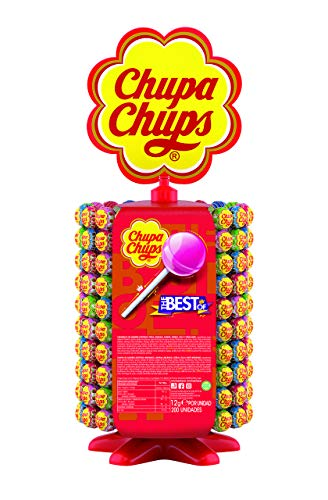 Chupa Chups Original, Caramelo con Palo de Sabores Variados, Rueda de 200 unidades de 12 gr. (Total 2.400 gr.)