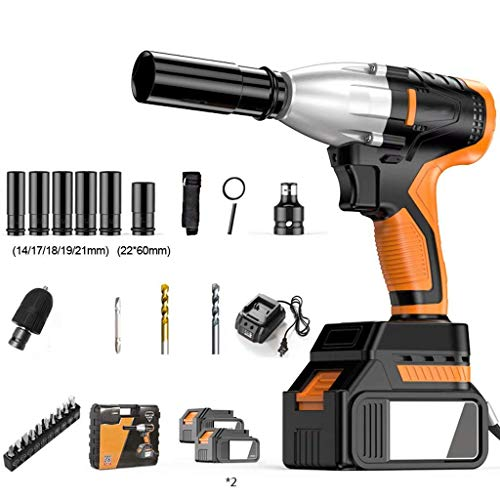 QTCD Impact Driver 360N.M High Impact Socket and Carrying Case with 2 Li-ION Batteries, Waterproof and Waterproof Carrying Case Included in DIY Tools