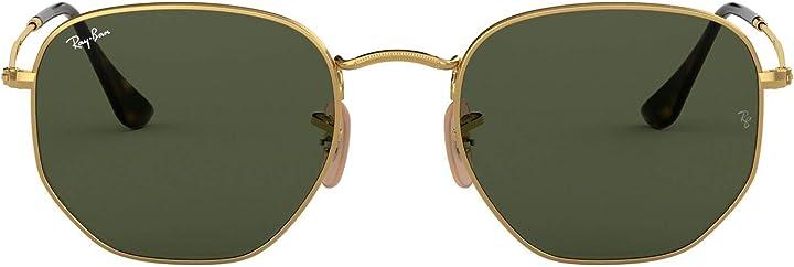 Occhiali da sole ray-ban rb3548n occhiali da sole, verde-oro, 51 unisex-adulto 0RB3548N