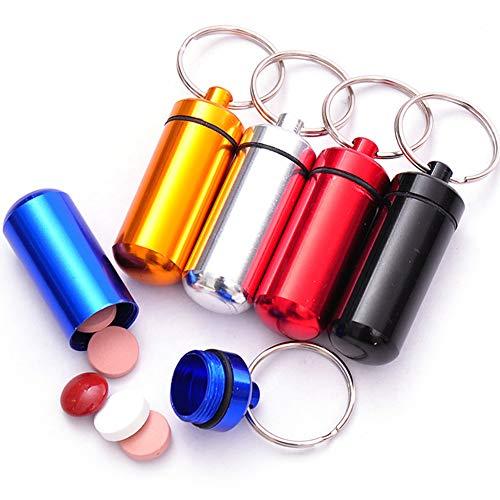 JujubeZAO Big Bargain - Mini Llavero, portátil, Impermeable, para medicinas, Botellas, tabletas, Caja de Almacenamiento