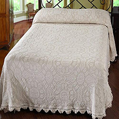 Maine Heritage Weavers Colonial Rose Bedspread, King, White