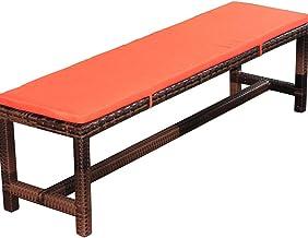 Garden Settee Cushio Pad,Non-Slip Long Seat Pad Cushion for Patio Furniture/Car Backseat/Travel,2 3-Seater Dining Bench Sw...