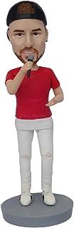 cantante bambolina regali di nozze souvenir Figurine Miniature volto reale polimero caly statua decorazioni per la casa de...