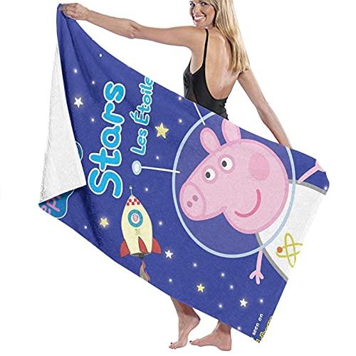 Toalla de baño impresión, 80 x 130 cm oficial Pe-ppa Pig toallas de baño súper absorbentes toallas de baño de playa para gimnasio, playa, Swm Spa