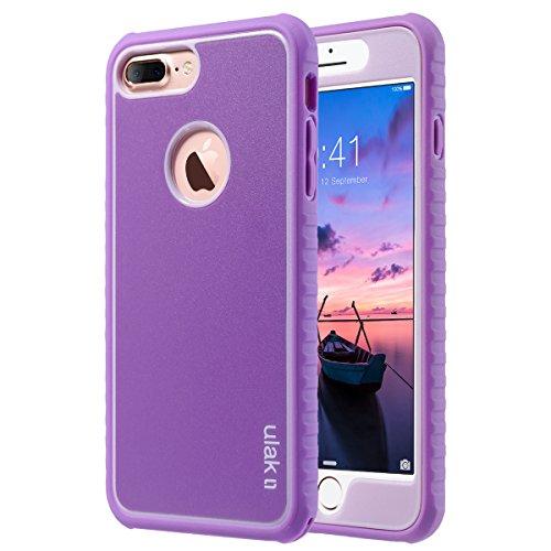 ULAK Cover iPhone 7 Plus, Cover per iPhone 8 Plus Custodia Stampato Design PC+ Silicone Ibrido Impatto Grande Difensore Combo Duro Morbido Case per Apple iPhone 8 Plus/ 7 Plus (5.5 Pollice), Viola
